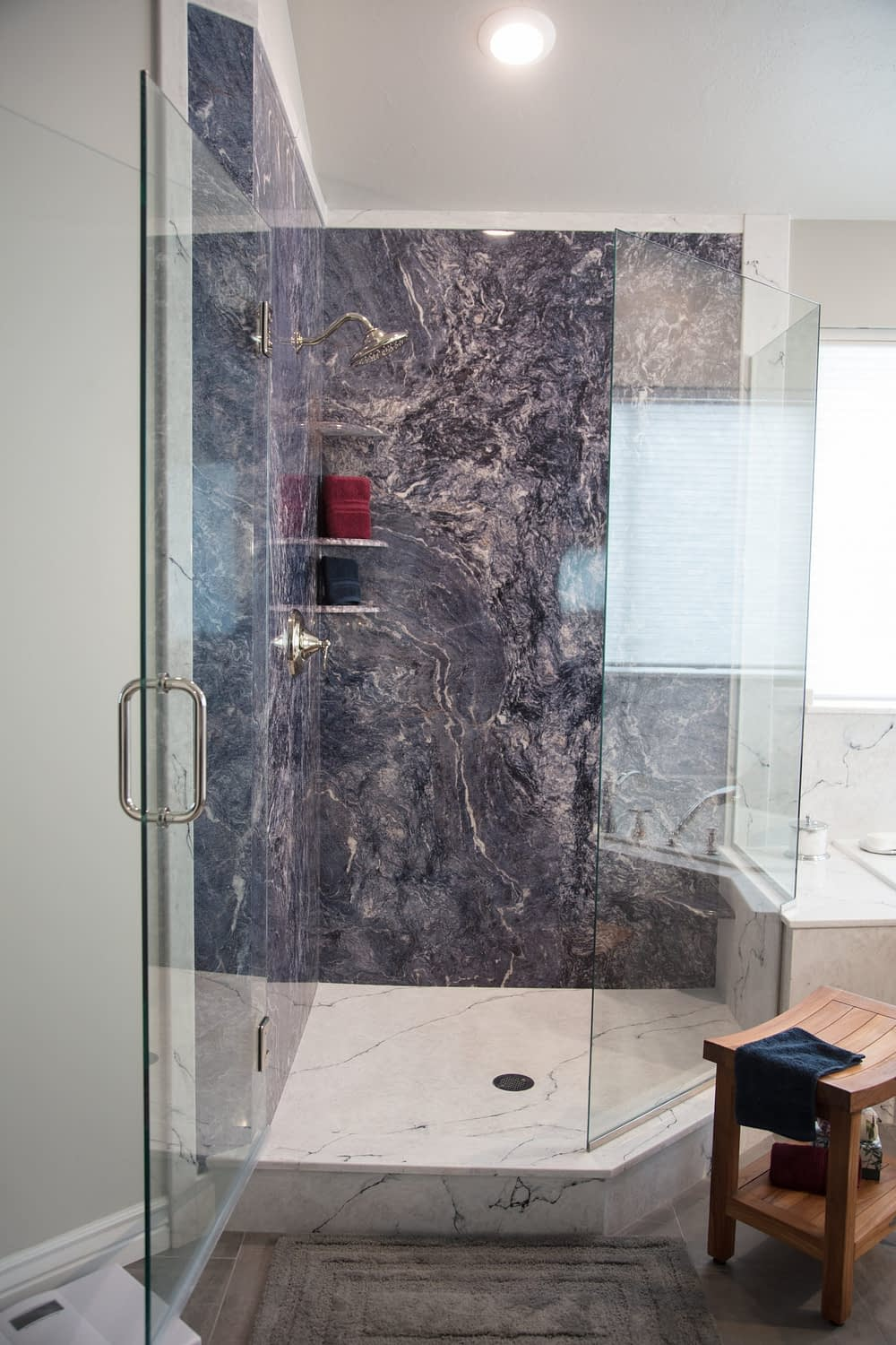 TruStone and Cultured marble shower enclosure