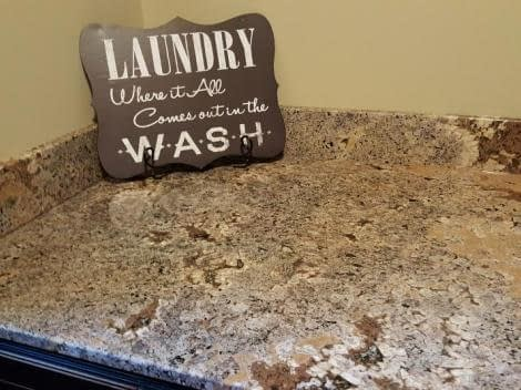 Laundry countertop in Trustone Sea Foam